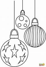 Christmas Coloring Pages Baubles Printable Sheets Kiddycharts Ornament Adults Ornaments Light Printables Stencils Holiday Noel Balls Colouring Bauble Decorations Outline sketch template