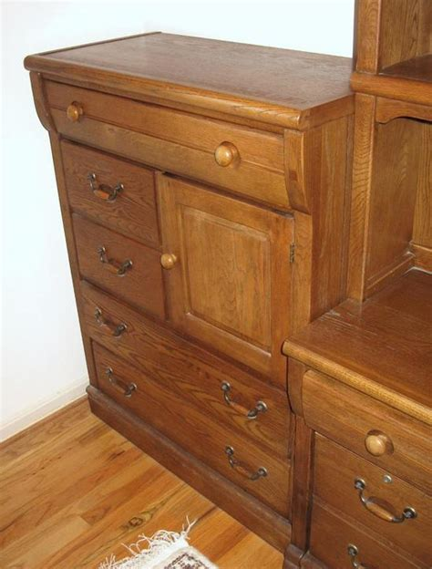 lexington furniture oak locker room bedroom suite desk