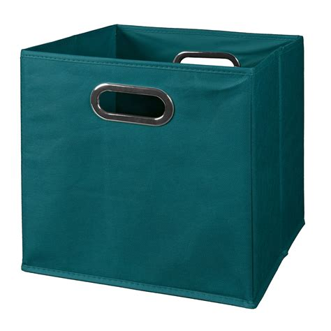 decorative tv stands cubo foldable fabric storage bin teal