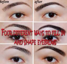 Different Ways to Shape Eyebrows