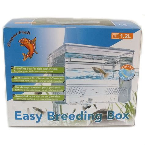 easy aquarium products superfish 1 2l aquarium fish tank easy box fry hang on hatchery breeder superfish