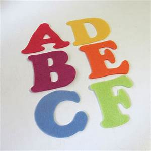 Felt abc letters alphabet felt board set creative for Felt letter sign