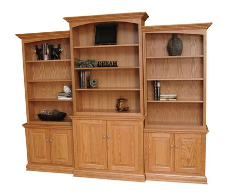Large Bookcase With Doors by Three Wall Unit Solid Wood Bookcases 6 Large Glass