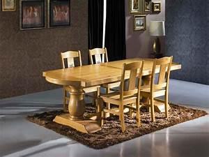 Table Chene Massif Rustique : table rustique fa on monast re en ch ne massif meubles bois massif ~ Teatrodelosmanantiales.com Idées de Décoration