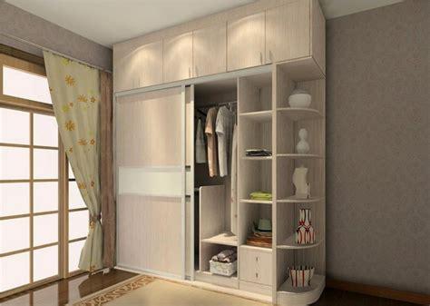 Wardrobe Ideas by Sliding Two Door Wardrobe Design With Side Corners Storage