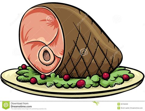 Cartoon Ham Stock Illustration. Image Of Object, Cooked