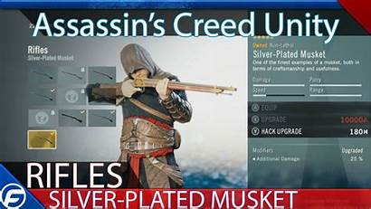 Creed Unity Assassin Silver Plated Musket