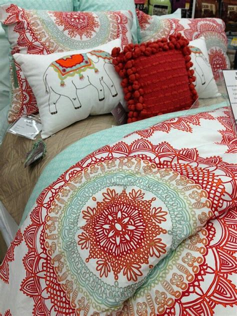 anthology bedding anthology bungalow reversible comforter set in coral comforter sets comforter and i love