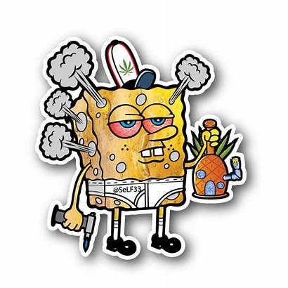 Stoner Trippy Smoking Drawings Sticker Clipart Hippie