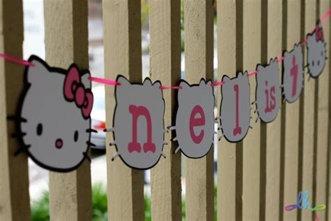 kitty banner  loopyheads  etsy  kitty party