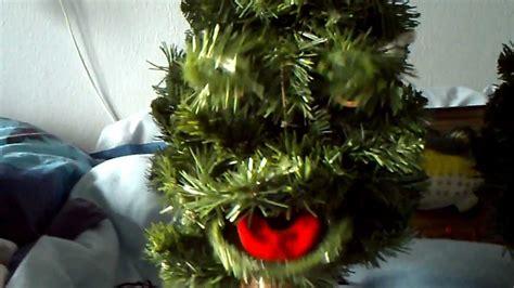 talking christmas singing tree youtube