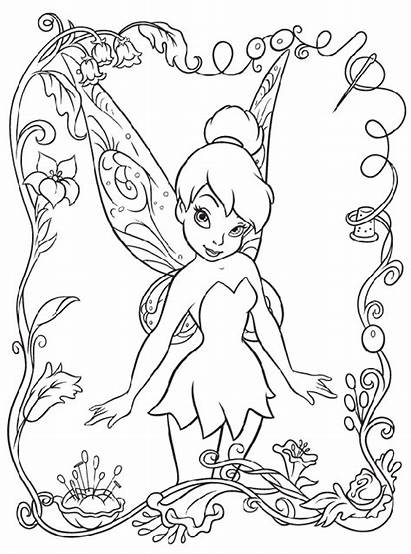 Coloring Tinkerbell Pages Disney Crayola Fairies Adult
