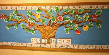 easy preschool apple bulletin board with 39 prints