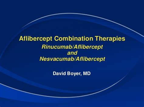 EMERGING APPROACHES TO COMBINATION THERAPIES IN AMD & DME ...
