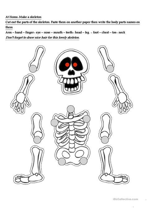 skeleton worksheet worksheet  esl printable