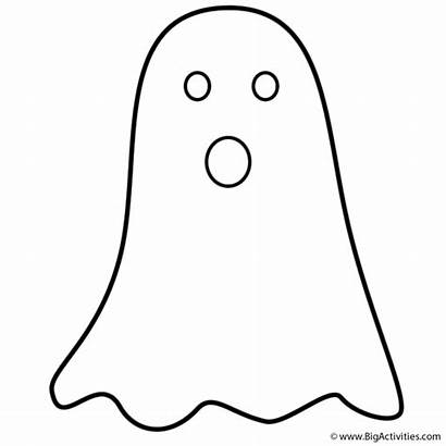 Ghost Coloring Halloween Pages Simple Outline Ghosts