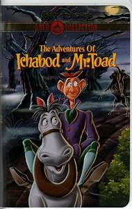 The Adventures of Ichabod and Mr. Toad (VHS, Gold ...