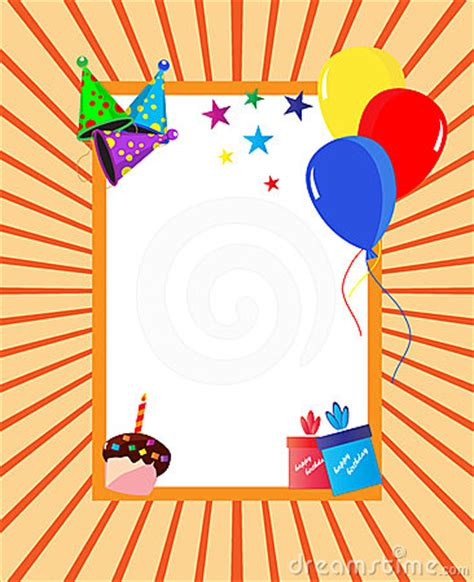 birthday party celebration frame royalty  stock images