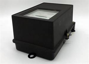 3 Phase Electromechanical Induction Meter   Black