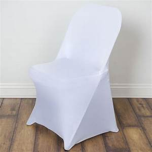 10 spandex folding chair covers stretchable fitted wedding for Spandex folding chair covers