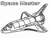 Coloring Spaceship Space Shuttle Nasa Master Printable Netart Getdrawings Getcolorings sketch template