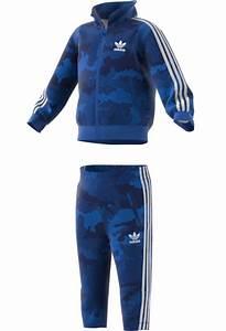Adidas Infants Originals TKO Tracksuit Blue Dark Blue Camo I Landau