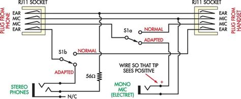 headset with microphone wiring diagram headset wiring cheapskate s headset adapter circuit diagram
