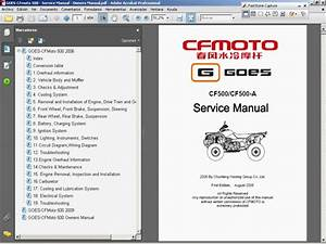 Goes 500    Cfmoto 500 - Service  Repair  Workshop Manual