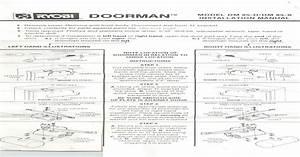 Ryobi Doorman Installation Instructions