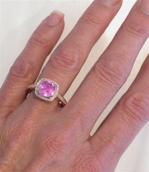 Cushion Cut Pink Sapphire Ring In Rose Gold With Lattice. Traditional Wedding Polish Engagement Rings. Recycled Engagement Rings. Copper Wire Rings. Pink Tourmaline Rings. Or Paz Rings. Wrist Rings. Fish Hook Rings. Wood Grain Engagement Rings