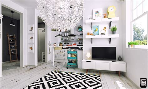 Artistic Apartments With Monochromatic Color Schemes by Artistic Apartments With Monochromatic Color Schemes