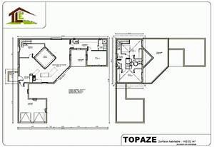 plan cuisine ouverte sur salon cuisine en u ouverte sur With ordinary plans de maison en l 2 maison de castro