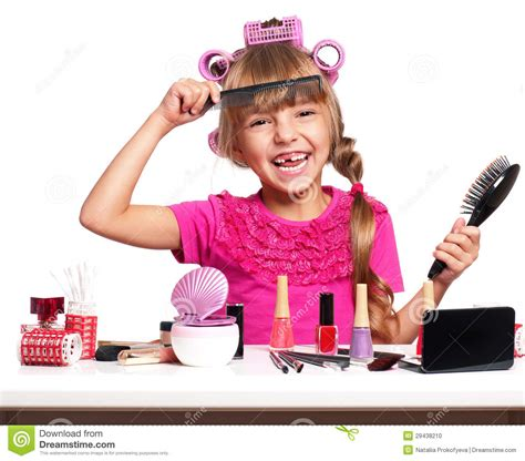 little girls makeup table makeup little stock photo image 29438210