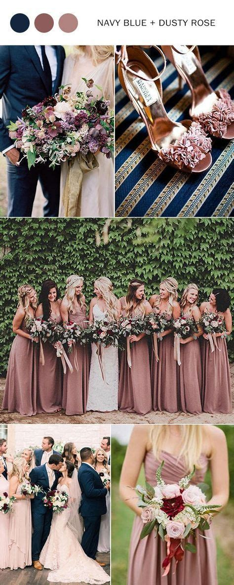 Top 10 Wedding Color Ideas for 2018 Trends Dusty rose