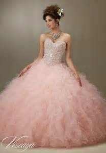 blush colored wedding dress tulle quinceanera dress style 89077 morilee