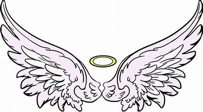 Angel Wings Drawing Crown Clipart Simple Draw