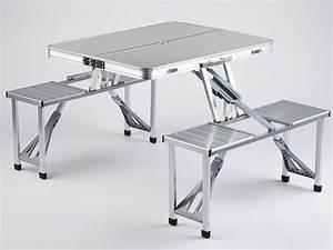 Table Camping Pliable : skandika ensemble table bancs camping pique nique pliable en valise 4pers neuf ebay ~ Farleysfitness.com Idées de Décoration