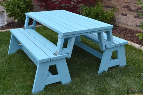 bench picnic table convertible picnic table and bench buildsomething