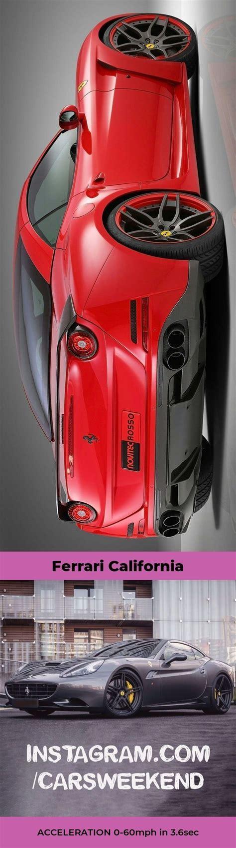 The ferrari california t with the top up. The Ferrari California TOP SPEED 196mph #ferraricaliforniat   Carros importados, Carros