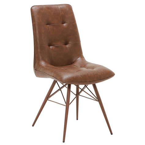 hix upholstered dining chair vintage brown dining