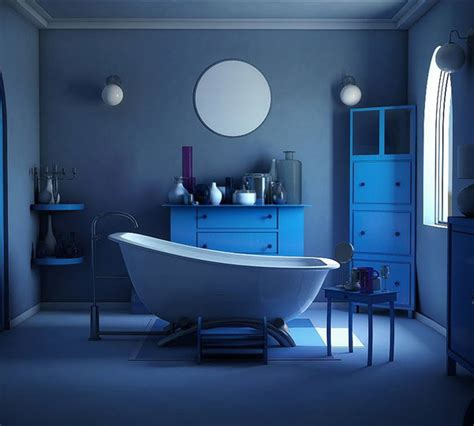 cool  charming blue bathroom designs home design lover