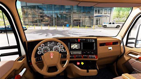 brown interior kenworth   american truck simulator