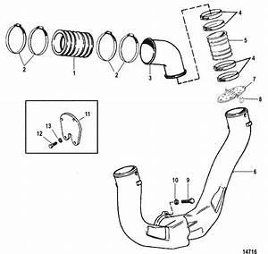 Mercruiser 5 0l Mpi Alpha    Bravo Exhaust System Parts