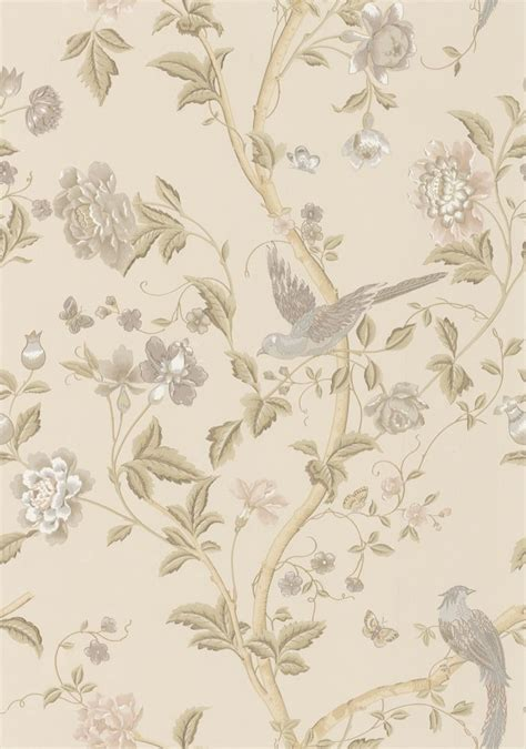 summer palace taupe ivory wallpaper  laura ashley