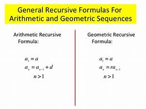 Gallery For > Recursive Formula For Geometric Sequence