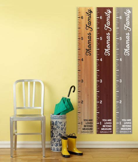 pin  madisons gardens  wood growth chart ruler