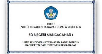 Bentuk Notula Rapat by Lp2mp Gema Nurani Buku Notulen Agenda Rapat Kepala Sekolah