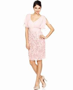 Js collections dress short split sleeve from macys for Macy s short wedding dresses