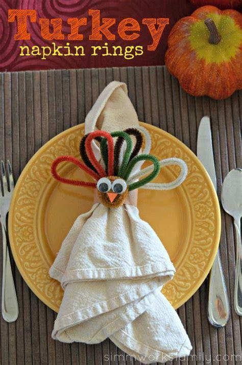 top  lovely diy napkin ring ideas  thanksgiving table