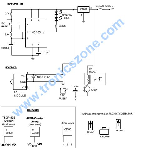 Infrared Beam Barrier Proximity Sensor Electronics
